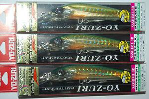 "3 lures yo zuri sashimi 3d magnum sinking 5 1/2"" 1 3/4oz r1066-cpbm mackerel"