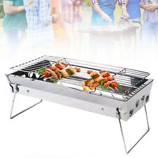 Camping Charcoal Grills Outdoor Bbq Grill Folding Cooking Stainless Steel