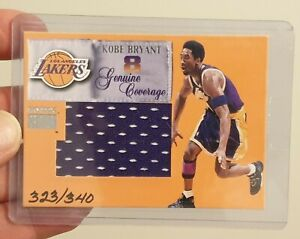 1999 KOBE BRYANT SKYBOX GENUINE COVERAGE JERSEY CARD PATCH MINT+! 🔥🐐 $500+ 🚨