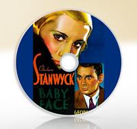 Baby Face (1933) DVD Classic Drama Movie / Film Barbara Stanwyck George Brent