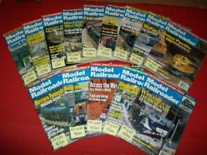 14-VINTAGE COLLECTIBLE MODEL RAILROADER MAGAZINE ISSUES 1999-2000 LISTING #1/5