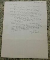 Ed Freed Signed Letter Baseball Content Philadelphia Phillies Autographed Letter