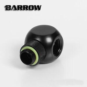 "Barrow G1/4"" Matte Black Rotary Cuboid T (3 way) Fitting Adapter - 154"