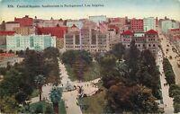 DB Postcard CA Da605 Central Square Auditorium Birds Eye View Los Angeles 1918