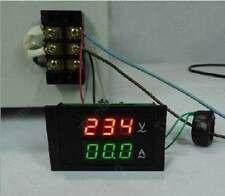 Digital Volt Ampere Amp Meter Voltmeter Guage AC 100-300V/200A+Current 110V 220V