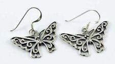 Pendientes de joyería mariposas plata