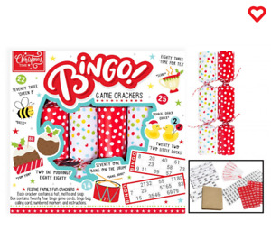 Novelty Bingo Crackers 6 Piece Gift Christmas Crackers Game Fun