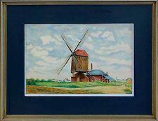 Moderne Kunst, Niederrheinmaler M. Schleich, Mühle bei Vluyn, 1953 xx 56-746 xxx