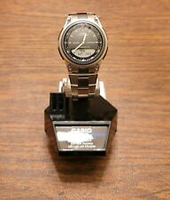 Casio Illuminator Men's Quartz Silver-Tone Bracelet 40mm Watch AW80D-1AV