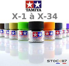 peinture brillante Tamiya Acrylique 10ml de X1 à X34