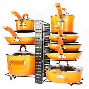 Pots and Pans Organizer – Kitchen Cabinet Organization and Storage