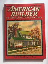 October 1926 American Builder Magazine w/ 16 Color Home Designs and Tons of Ads