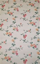 Vintage Dark Pink, Light Pink & Yellow Floral Vines on Off White by York  SP7238