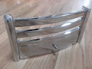 """Aviva 16"""" Chrome Silver Cast Iron Firefront Fret For Gas or Electric Fires"""