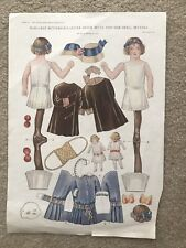 Vintage 1913 Margaret Buttericks Little Sister Betty And Her Doll Bettina Uncut