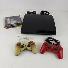Playstation 3 Slim 160 GB Ps3 Console 2 Controllers 3 Games Black Ops 1 & 2
