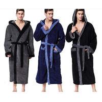 Men's Bathrobe Lengthened Plush Shawl Home Clothes Winter Long Sleeved Robe Coat