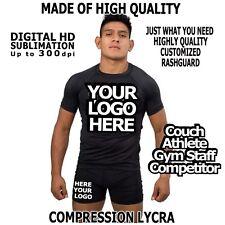 Customized Rashguard Lycra Custom SURF Rash MMA BJJ Any Adult Size S M L XL XX