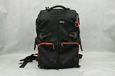 Ultimaxx Padded Black/Red Camera Backpack Bag Case Multiple Compartments Used
