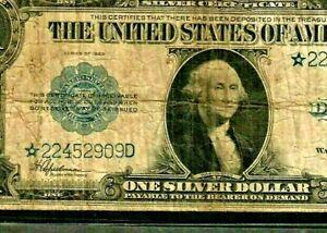 "$1 ""STAR"" STAR""STAR"" (HORSE BLANKET) $1 ""1923 ""STAR""STAR""STAR"" $1   RARE STAR!!!"