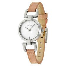 DKNY Genuine Leather Quartz (Battery) Wristwatches