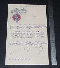 RARE COURRIER A EN-TETE CHOCOLAT DE ROYAT 1907 LETTRE SIGNEE A. ROUZAUD