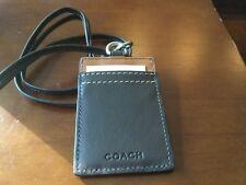 NEW COACH Mahogany/Saddle Lanyard ID Badge Holder/Pass Case
