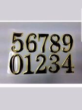 GOLDEN/BLACK STICKY PROPERTY NUMBERS SET FOR LOCKERS DOORS HOUSES OFFICE BUNS