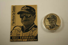 DALE EARNHARDT 2001 American Silver Eagle & Gold Card Set Serial numbered of 201