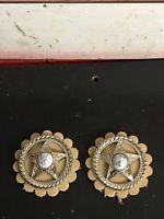 Vintage Harley Indian STAR Seat Rosettes Flathead Knucklehead Panhead Bobber D5