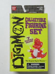 2of2 Digimon Collectible Figurine Set Seven Digital Monsters Bandai #1922 Rare