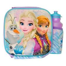 3D Frozen Lunch Bag and Drink Bottle - Girls Food Storage Container Box