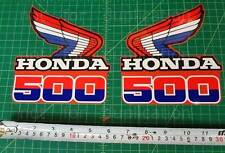 85' 1985 honda CR500R dirtbike 2pc Vintage shroud graphics decals stickers HRC