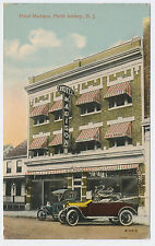 Rare 1907 Hotel Madison Perth Amboy old cars automobile New Jersey Nj Post Card