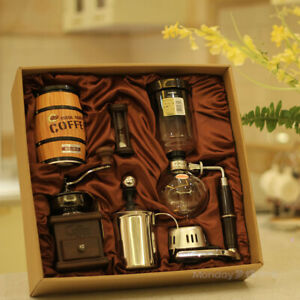 Siphon Coffee Maker Gift Pack Manual Coffee Machine Glass Coffee Pot Hand Mill