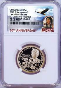 2020 S Proof Native American NGC PF70 $1 Anti-Discrimination v. SilverSet coin