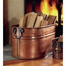 Decorative Firewood Bucket Large Indoor Log Rack Holder Fireplace Hearth Tub New