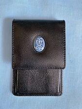 Lladro Leather Key Case Ring Blue Porcelain Logo Fiocchi Snap Society MemberGift