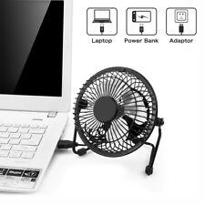 USB Powered Mini Portable Desktop Cooling Desk Fan For Computer Laptop - Metal