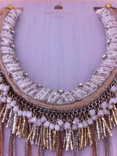 Topshop Necklace Collar Beads Chain Diamante New