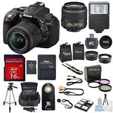 Nikon D5300 DSLR w/18-55 VR II Lens + Flash + W/A + Telephoto + 16Gb + EXTRAS!
