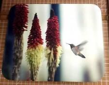 Humming Bird Mouse Pad - Humming Bird Flowers