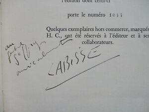 SCHWOB Marcel / LABISSE Félix - Vies Imaginaires - Ex N°/Vélin Envoi Illustré