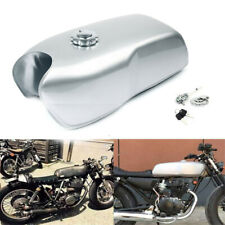 9L / 2.4Gal Vintage Steel Motorcycle Cafe Modified Seat Fuel Gas Tank+Cap Switch