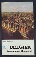 """Vintage 1967 Travel Poster Belgium Belgien Ardennen und Maasland 14.5 x 23.5"""""""
