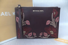 d00fad8953f7a Michael Kors Genuine Large Floral Leather Clutch Evening Wristlet Bag BNWT