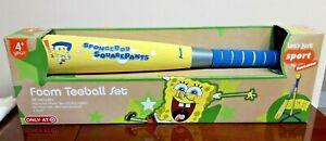 New Franklin Sports Nickelodeon SpongeBob Squarepants Foam Teeball Set