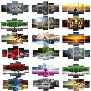 Modern Wall Painting Picture Canvas Split Wide Long Unframed Home Room Art Decor