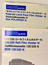 MAMIYA M645 super ROLL FILM HOLDER N :POLAROID LAND PACK N Instructions MANUAL