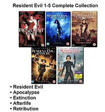 Resident Evil Movies 1-5 R2 UK DVD Apocalypse Afterlife Extinction Retribution